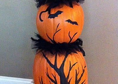 Faux Pumpkin Topiary 21