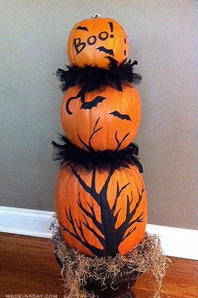 Faux Pumpkin Topiary