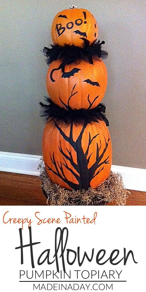 Faux Pumpkin Topiary 7