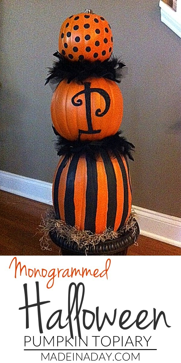 Faux Pumpkin Topiary 6