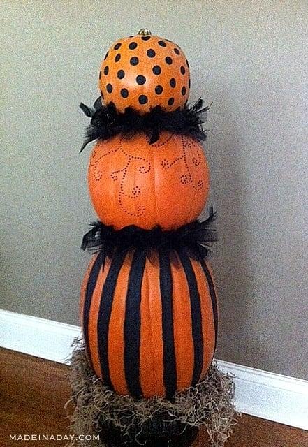 Faux Pumpkin Topiary 4