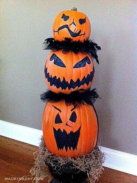 Faux Pumpkin Topiary 5