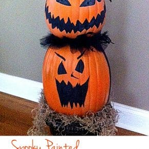 Faux Pumpkin Topiary 1