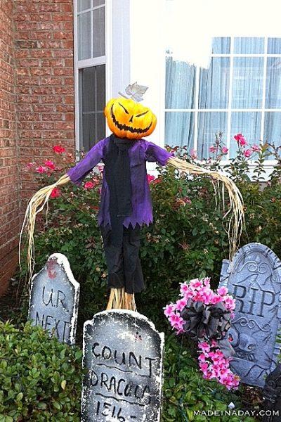 Spooky Pumpkin Scarecrow