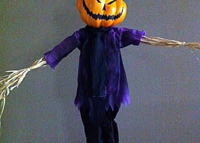 Spooky Pumpkin Scarecrow Halloween Prop 19