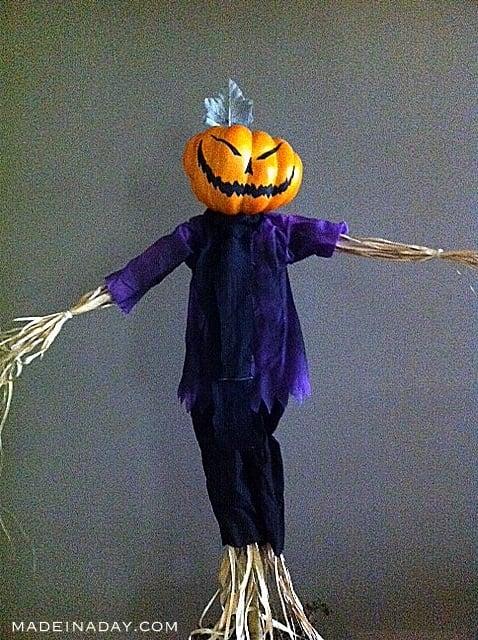 DIY Pumpkin Scarecrow, Halloween Scarecrow, Halloween prop,
