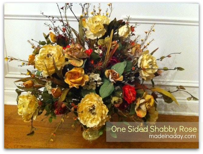 One Sided Shabby Rose Arrangement