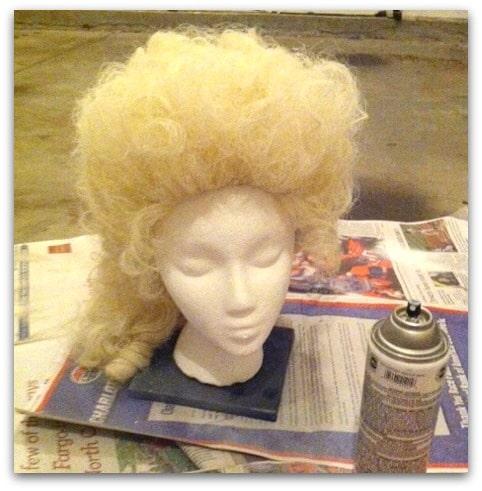 Spray Paint Wig White 100