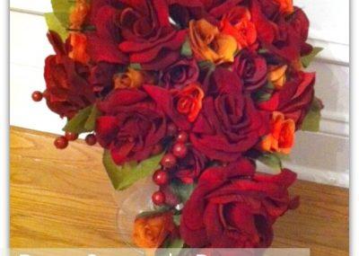 Silk Rose Cascade Bouquet 18