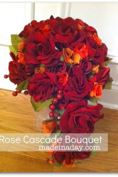Silk Rose Cascade Bouquet