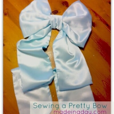 Sewing a Bow