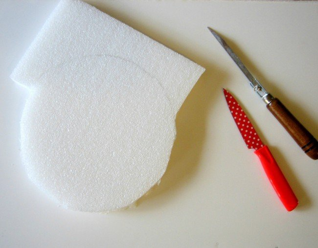 Cut foam board with a sharp knife