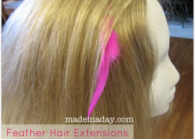 DIY Feather Extensions 6