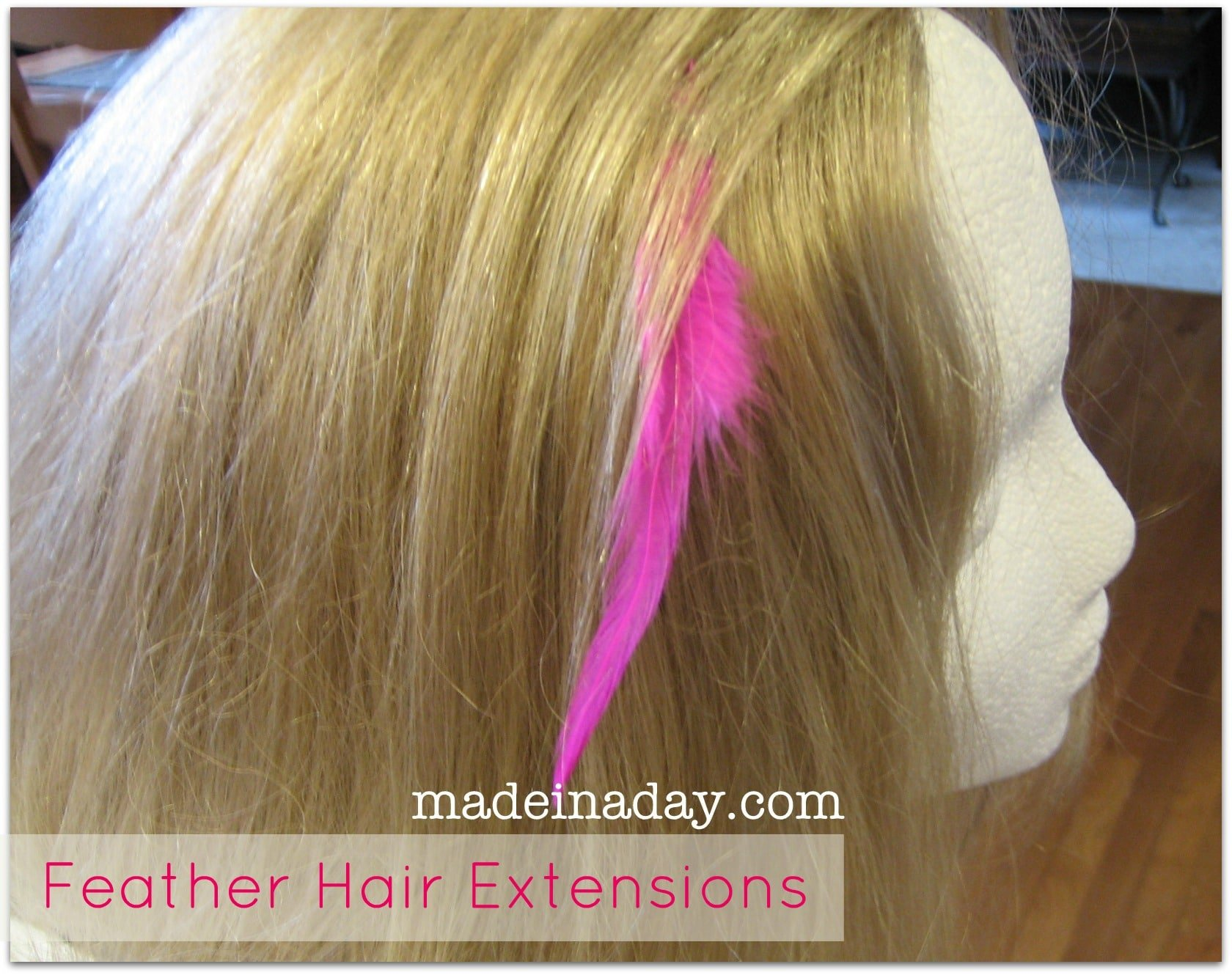 DIY Feather Hair Extension Tutorial
