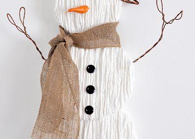 Charming Yarn Snowman Wall Art 7
