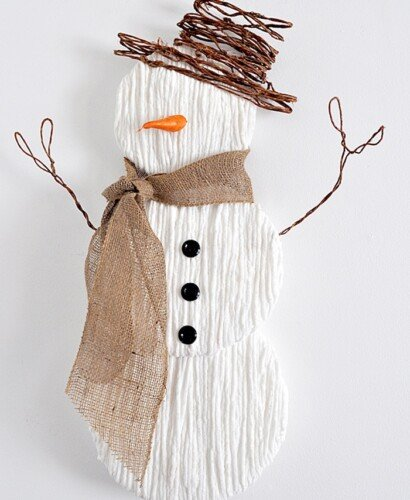 Charming Yarn Snowman Wall Art 4
