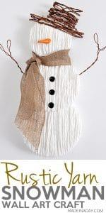 Charming Yarn Snowman Wall Art 1