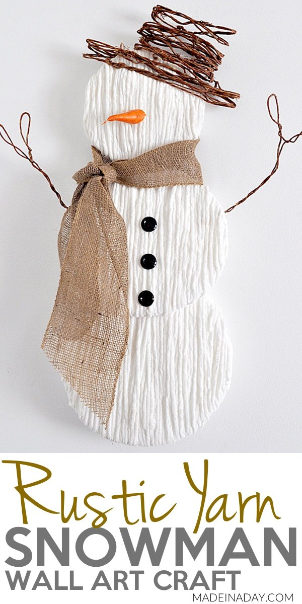DIY snowman door hanger for winter days