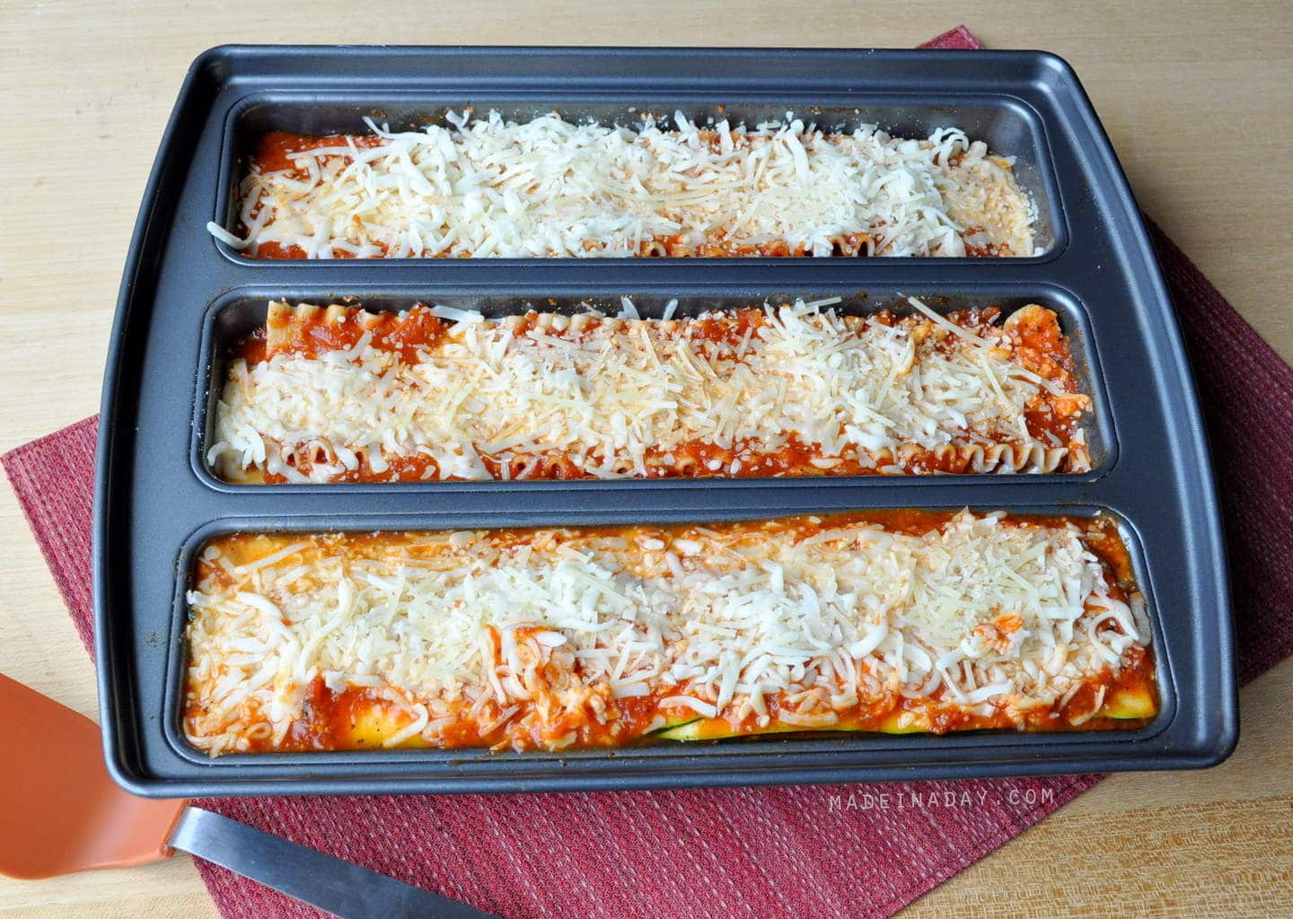 Spinach Lasagna and a Lasagna Trio Pan Review