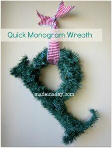 Quick Monogram Wreath