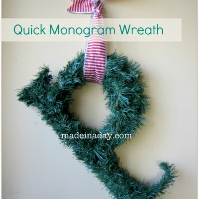 Quick Monogram Wreath