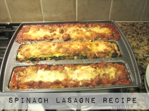 Spinach lasagne Recipe Trio Pan madeinaday.com