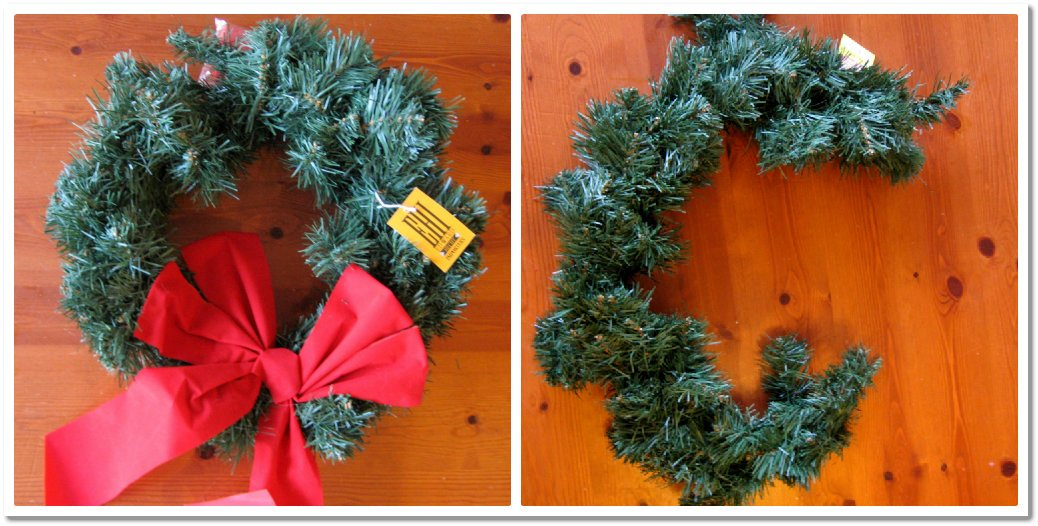 Easy way to make monogram wreath out of round wreath