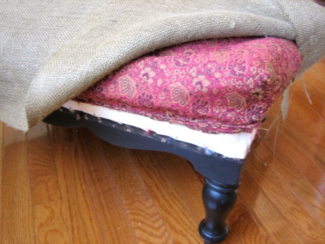 Cut and cover with burlap