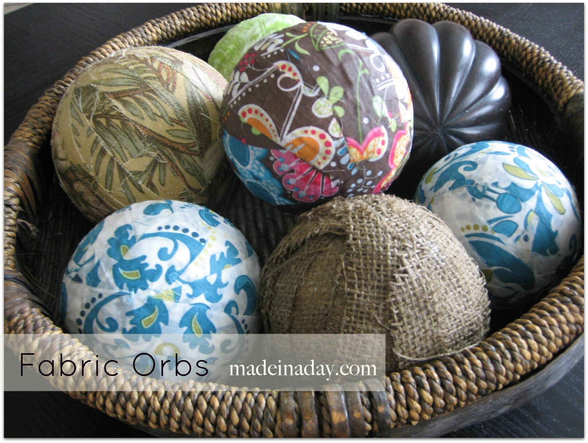 Fabric Covered Decorative Orbs