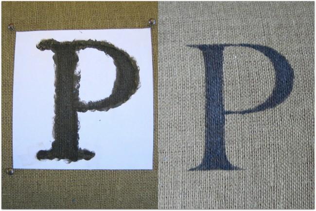 Injet printer stencil on fabric