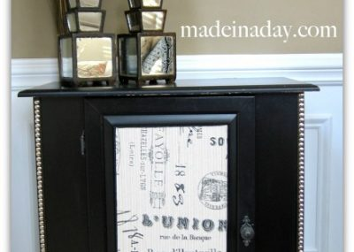 Fabric Nailhead Cabinet updo!  1