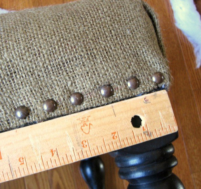 hammer nails to ottoman