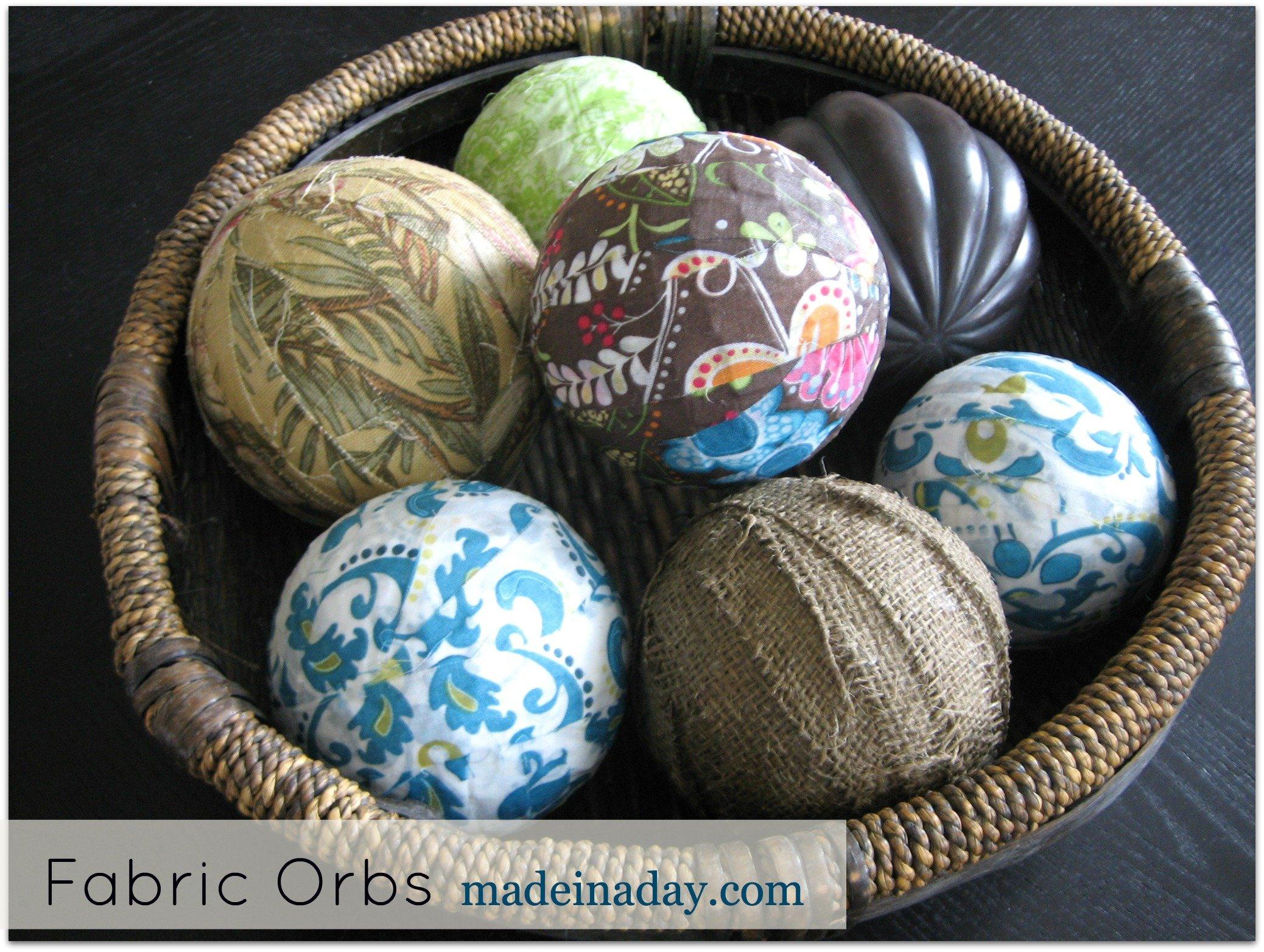 DIy fabric Orbs