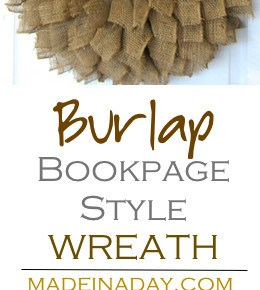 Burlap Wreath Book-page Style! 1