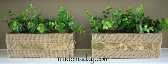 Burlap Boxes ~Flowers