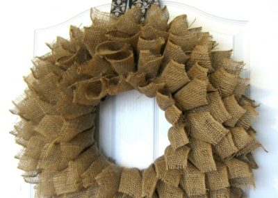 Burlap Wreath Book-page Style! 23