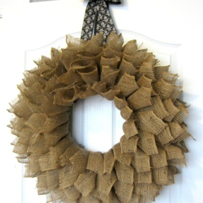 Burlap Wreath Book-page Style!
