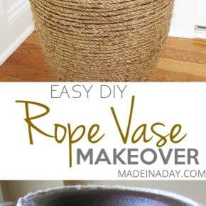 Natural Rope Vase Makeover 1