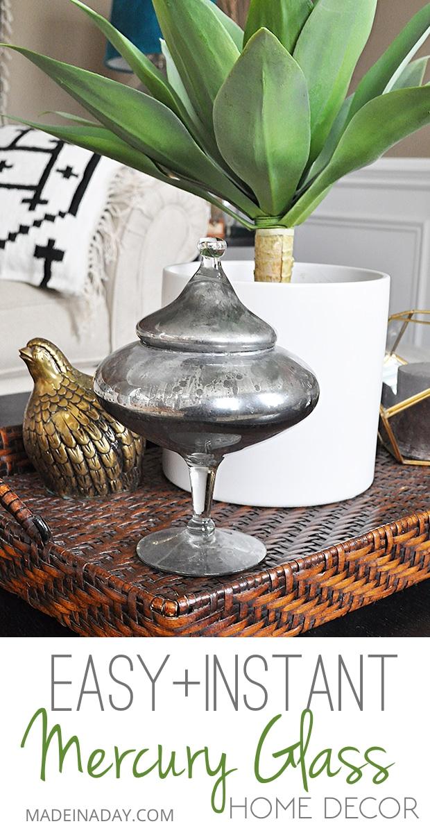DIY Mercury #Glass, Looking glass paint, how to make mercury glass, faux mercury glass, mercury glass vase, #mercuryglass #paint