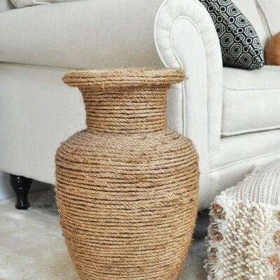 Natural Rope Vase Makeover