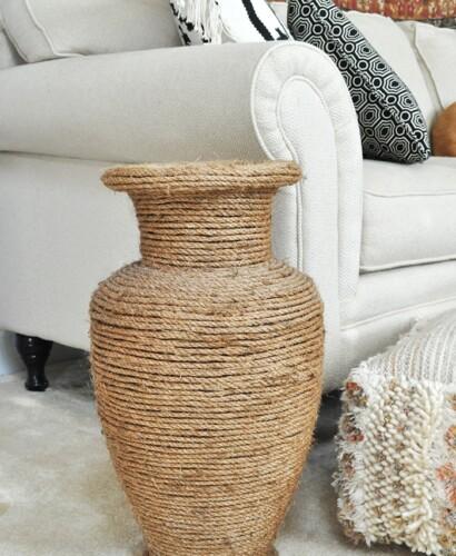 Natural Rope Vase Makeover 32