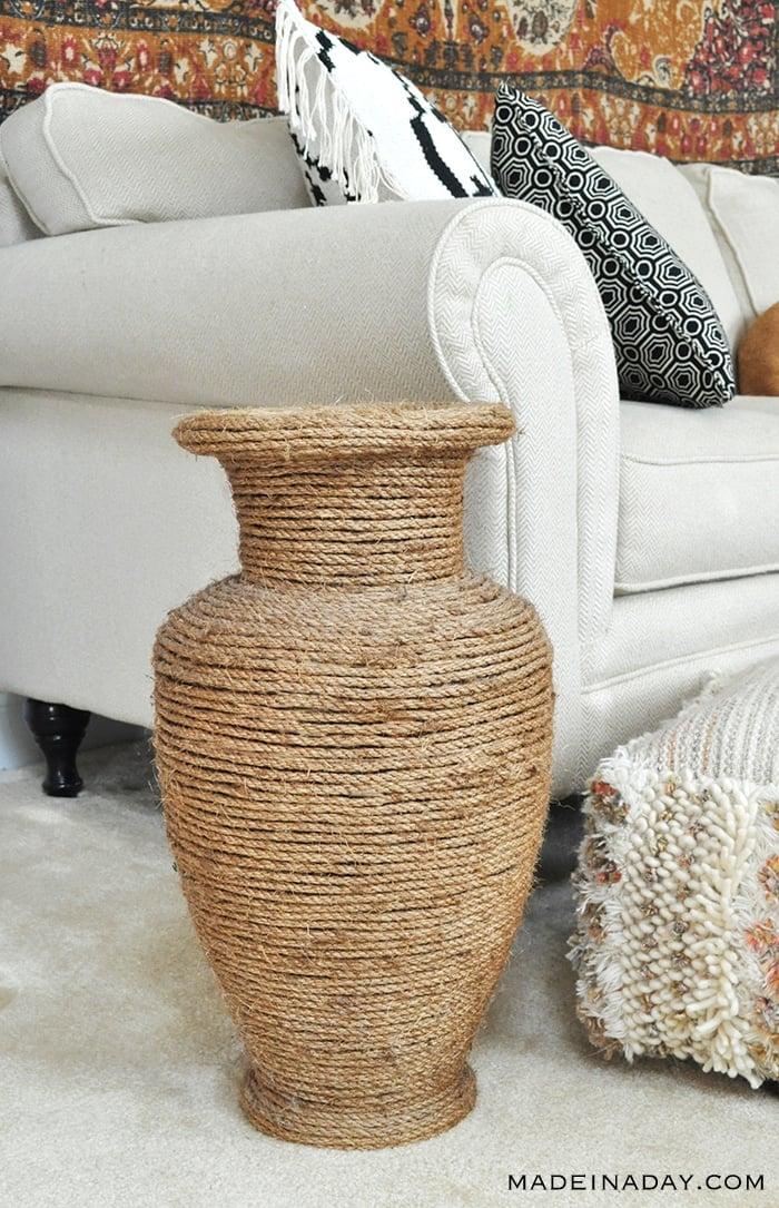 Natural Rope Vase Makeover 2