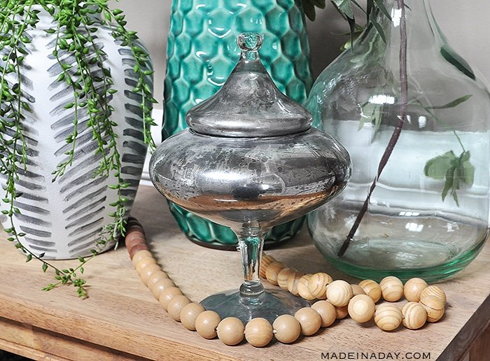 DIY Mercury #Glass, Looking glass paint, how to make mercury glass, faux mercury glass, #paint