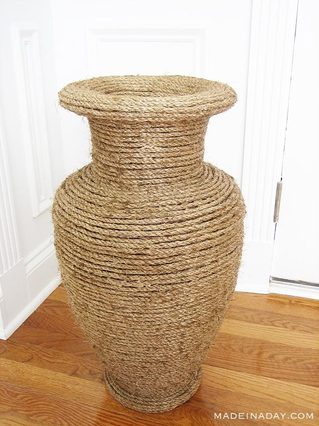 Natural Rope Vase Makeover 6