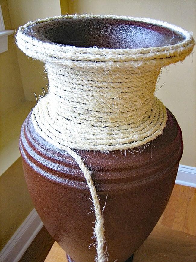 Natural Rope Vase Makeover 5