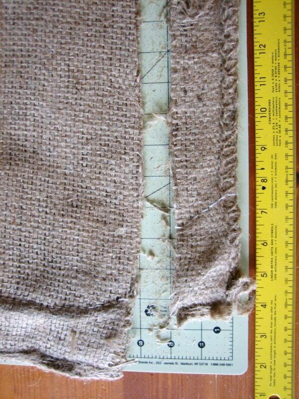 Cut burlap in 3 to 4 inch strips