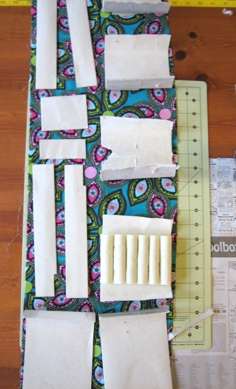 Cut fabric to match sections