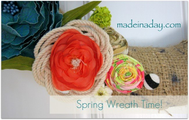 Rope and fabric flower tutorial