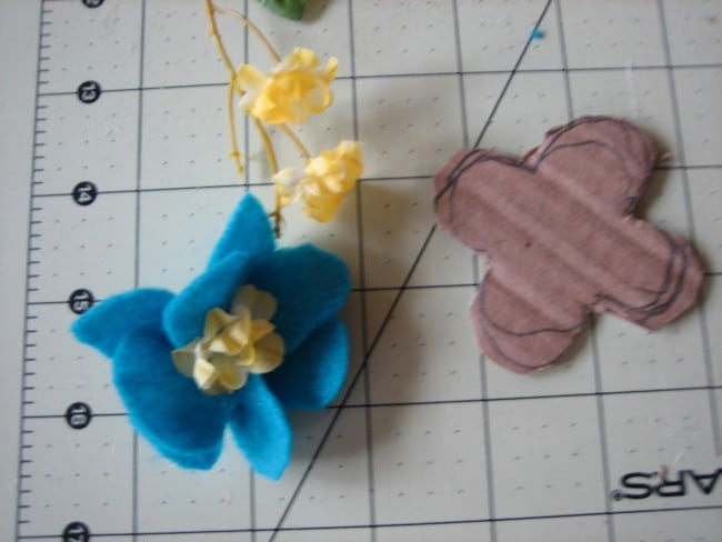 Fabric felt flower