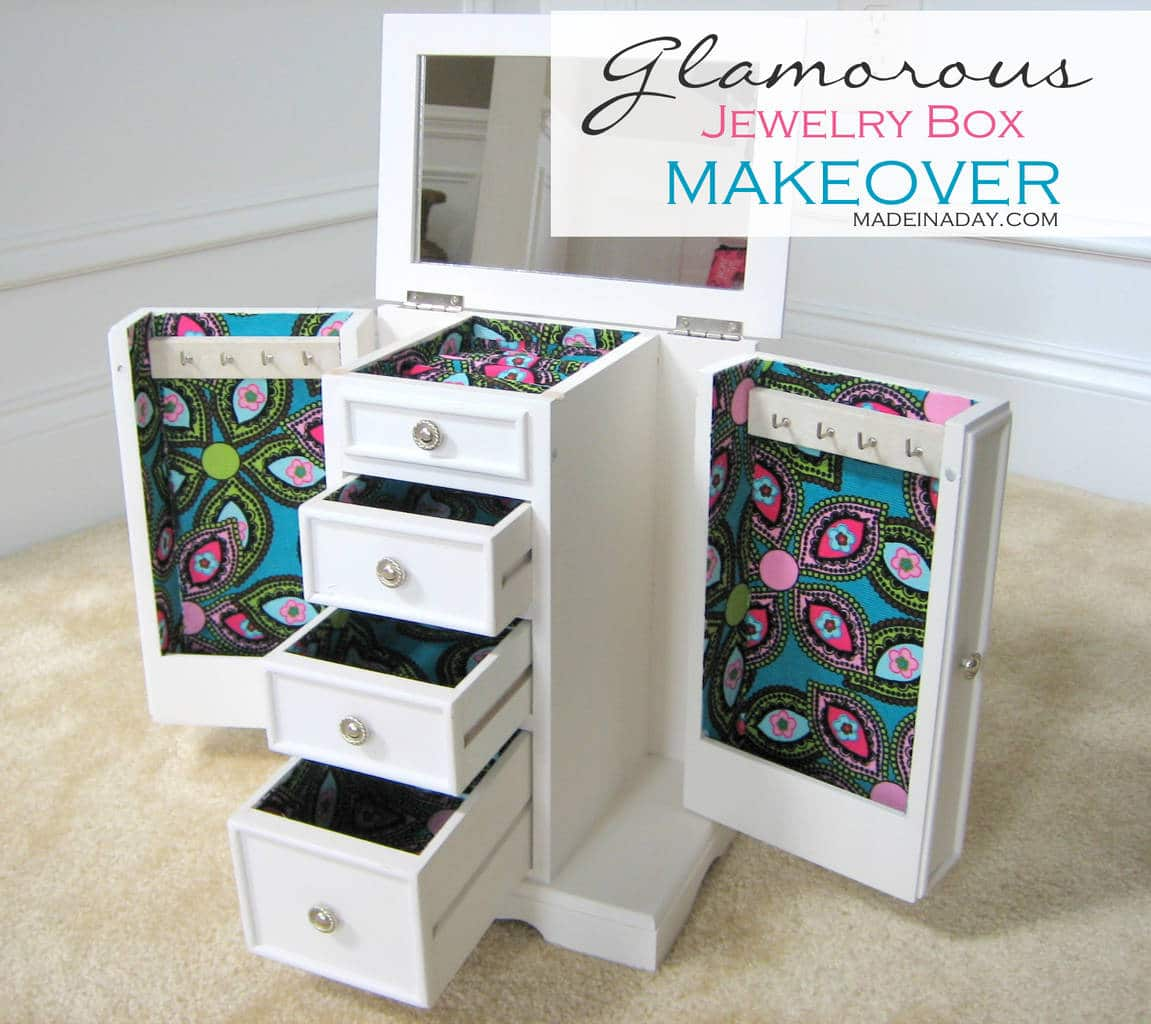 Charming Diy Jewelry Box Part - 13: Made In A Day